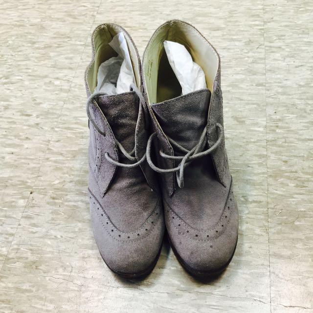 Miss21高跟綁帶短靴