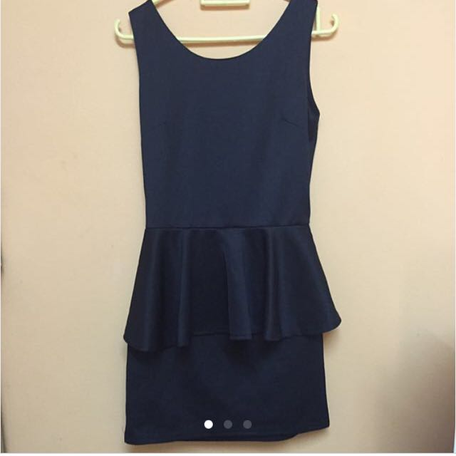 Peplum Sexy Back Dress