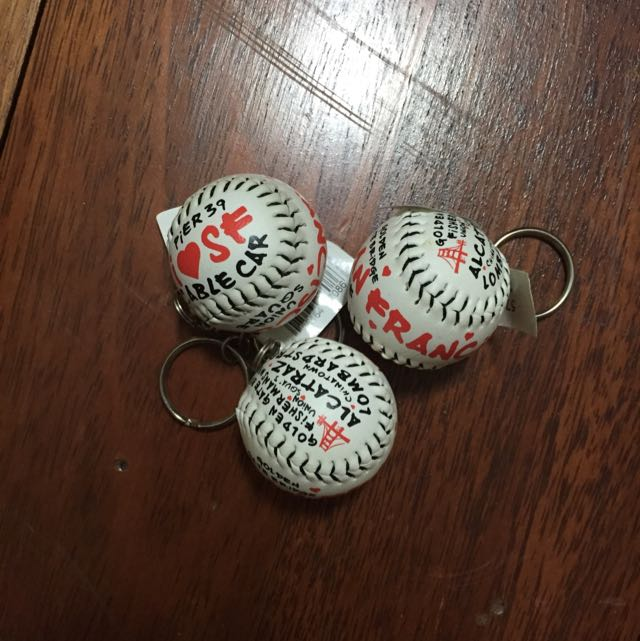 San Francisco Baseball Keychain