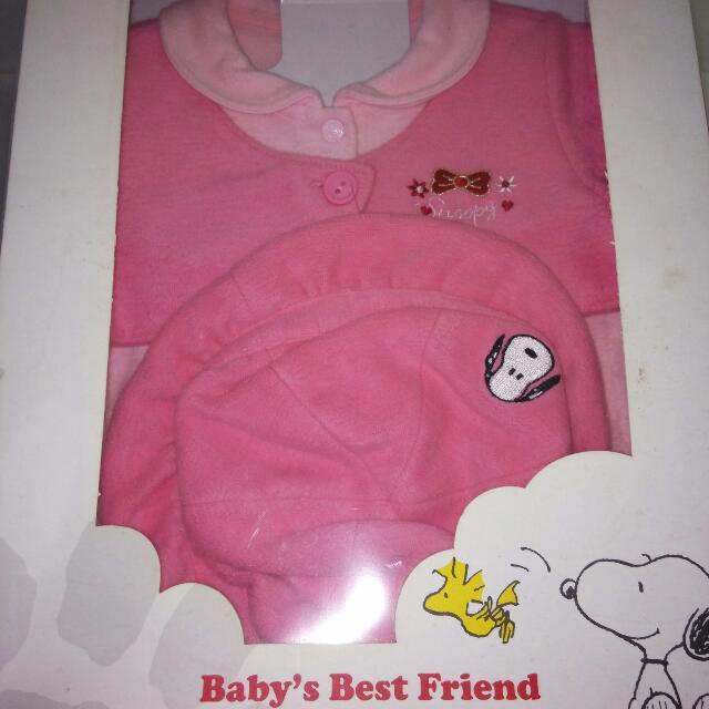 史努比Snoopy嬰兒服(月六個月大女嬰穿)