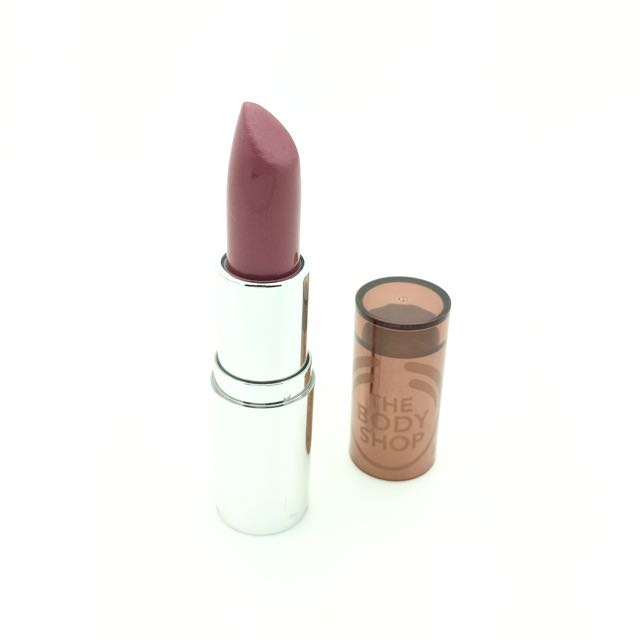THE BODY SHOP Color Crush Lipstick shade #335 HOT DATE (deep rose shade)