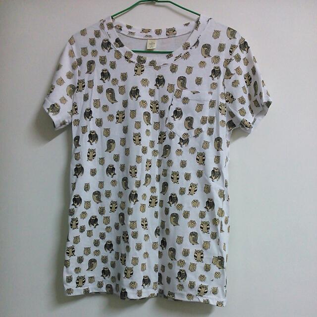 滿滿貓頭鷹T-shirt