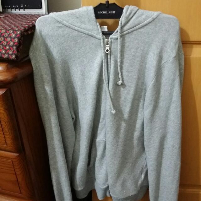 UNIQLO棉外套灰色棉外套