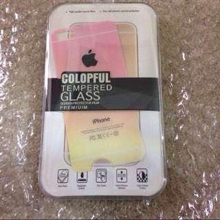 👉🏻只售背面Iphone5/5s漸層玻璃膜(粉.黃)含運$150