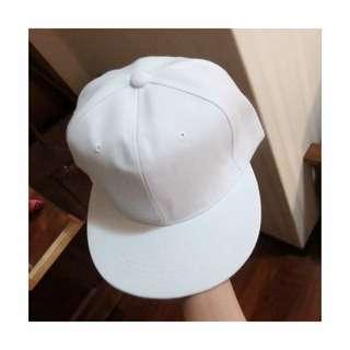 (保留)免運❗️白色帆布棒球帽(輕微瑕疵)