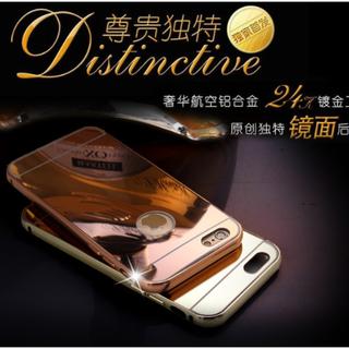 全館出清 售完不補 ! iPhone6 (4.7) iphone plus (5.5)  24k鍍金工藝 金屬邊框加镜面後蓋 鏡面手機殼 pc板鏡子保護套