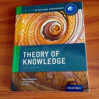 IB theory of knowledge (TOK) Textbook