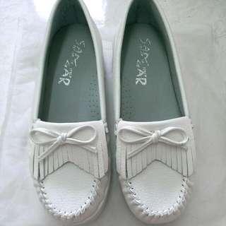 🔼保留中🔼 🌼白色流蘇莫卡辛鞋