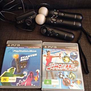 PlayStation Move For PS3 + Sports Champions Game