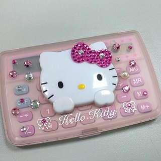 二手*HELLO KITTY粉紅水鑽計算機
