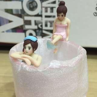 溫泉系列杯緣 售粉紅踢水