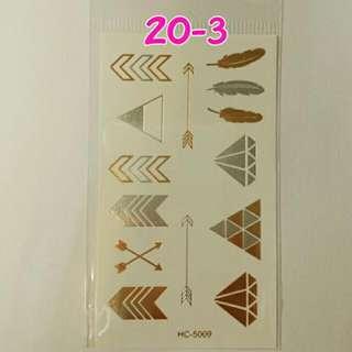 燙金紋身貼紙~No.20-3