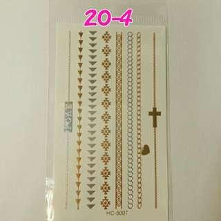 燙金紋身貼紙~No.20-4