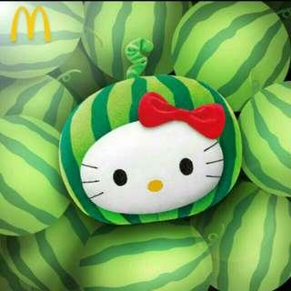 售西瓜kitty抱枕