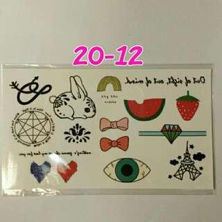 日本原宿風刺青貼~No.20-12