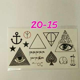 日本原宿風紋身貼~No.20-15