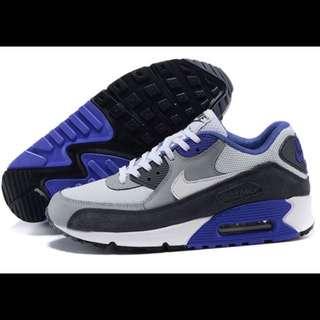Nike Air Max 90 Essential 跑步鞋氣墊鞋 灰黑寶藍 男鞋款