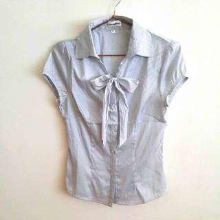 🚚 (全新)條紋短袖襯衫