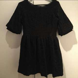 *REDUCED* Black Lace Dress With 3/4 Bell Sleeves