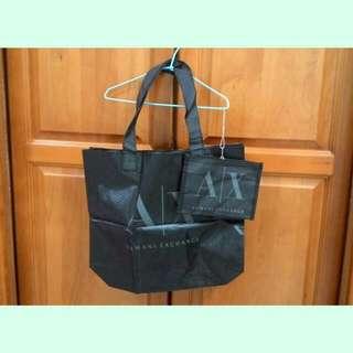 全新!Armani 亞曼尼 阿曼尼 肩背包 側背包 大方包 托特包 購物袋 防潑水