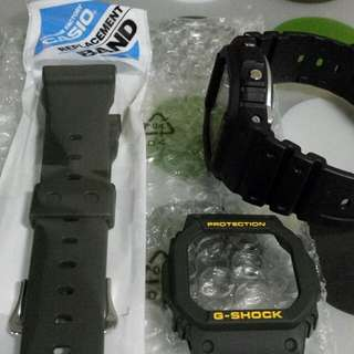 Casio G-Shock Olive Green Gshock G-5600 GLX/GLS/GW-S And GW-M 5600 Series Band And Bezel Only