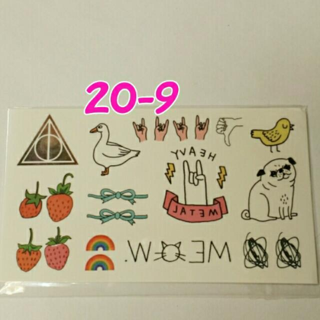 日本原宿風紋身貼~No.20-9