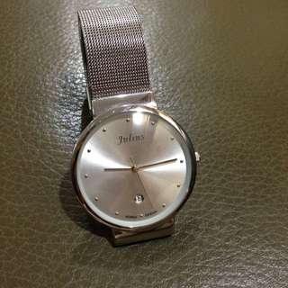 [待匯]Julius米蘭帶男錶(銀)