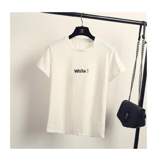 韓國原宿簡約字母黑白T恤