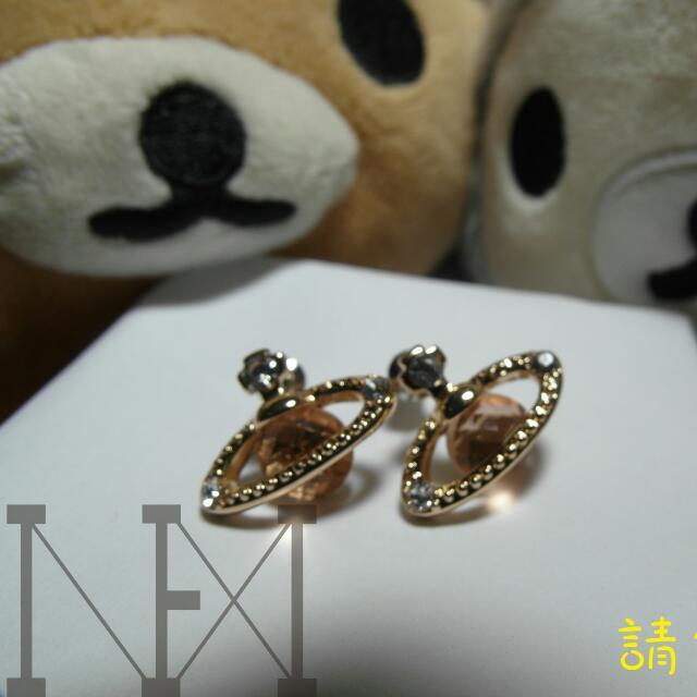(降價)全新現貨韓國耳環金色韓劇星球獨特飾品