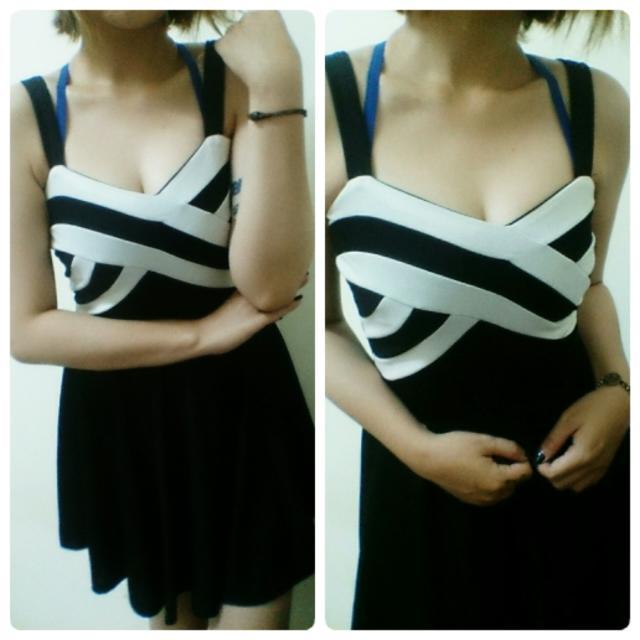 小香風 黑白洋裝