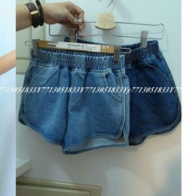 轉賣[簡約時尚] 運動風 牛仔短褲