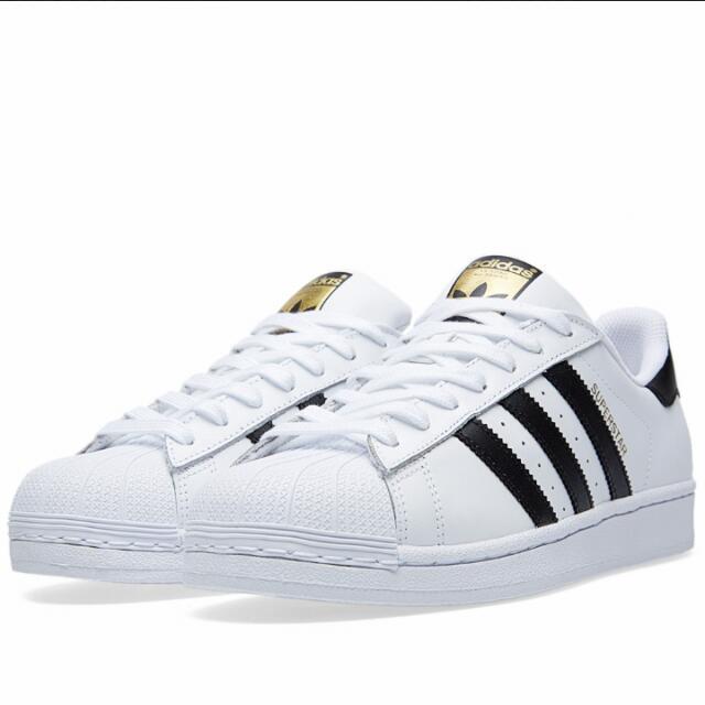 Adidas Superstar黑白金標