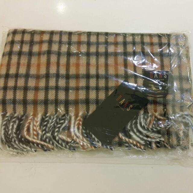 DAKS傳統格圍巾【100%羊毛】