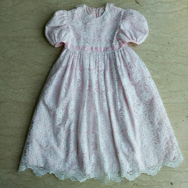 b2839caea76 Jayne Copeland Girl s Lace Overlay Party Flower Girl Princess Dress ...