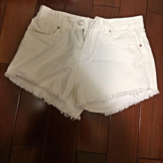 🔺全新-白褲短褲🔺s 腰圍長35cm