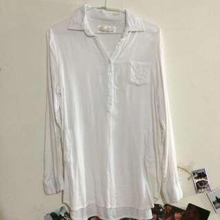 白色棉質長版 (有買商品就送)