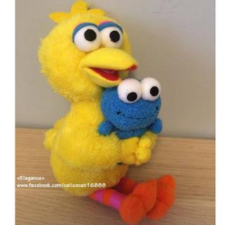 日本環球影城限定 芝麻街  大黃鳥&怪獸餅乾 玩偶吊飾