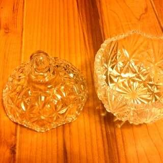 日本製 水晶玻璃 糖果罐