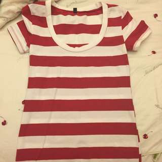 紅色條紋衣s號