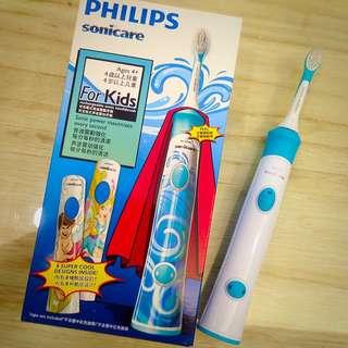 全新 PHILIPS 飛利浦 兒童音波震動牙刷(適合4歲以上使用)