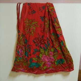 一片布綁帶裙