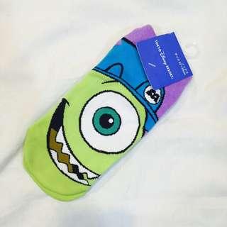 迪士尼大眼怪 麥克華斯基 短襪