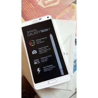 Brand New White Samsung Note 4