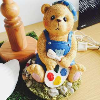 [BN] Teddy Bear Painter Coin Figurine