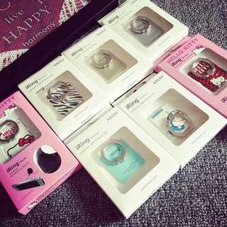 時尚金屬手機支架可愛手機指環支架韓國粘帖手機架防摔