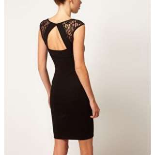 A Wear Jazz Lace Shoulder Bodycon Dress