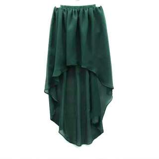 Green Hi Low Skirt