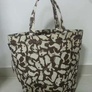 Rootote canvas tote bag