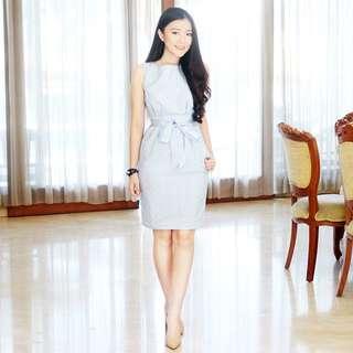 Voerin Baby Blue Long Dress