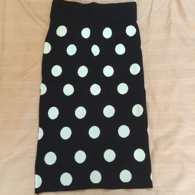 針織合身長裙